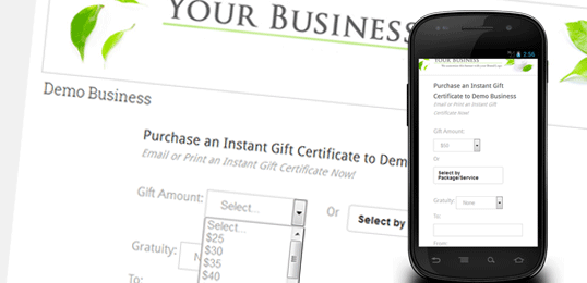 instant printable gift certificates
